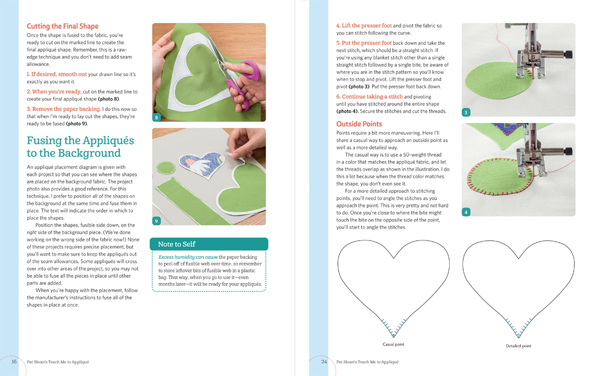 How-to pages from Pat Sloan's Teach Me to Applique