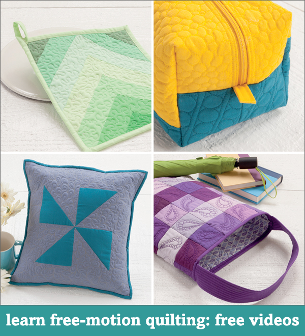 Learn free-motion quilting free videos