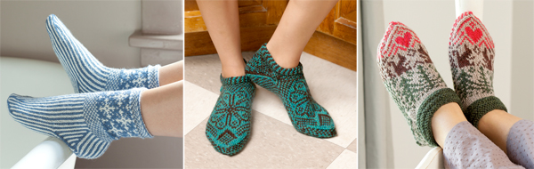 From Knitting Scandinavian Slippers and Socks