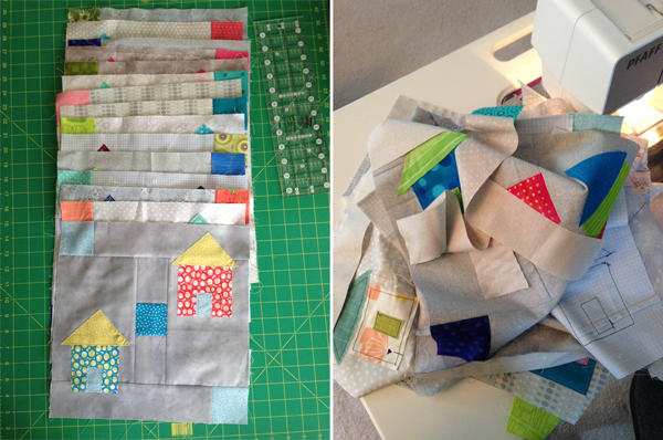 House quilt blocks made by Martingale staff