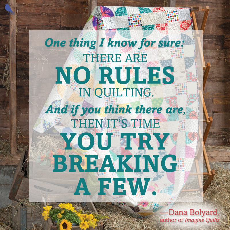 Imagine Quilts quilting quote for Instagram