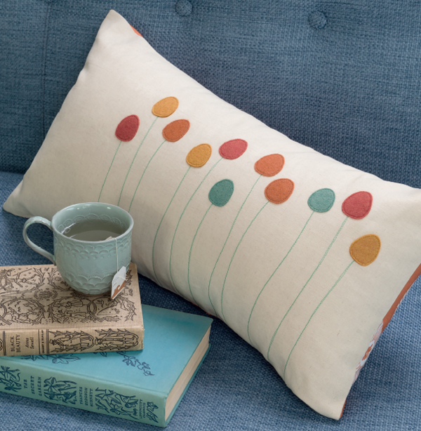 Prairie Blooms Throw Pillow