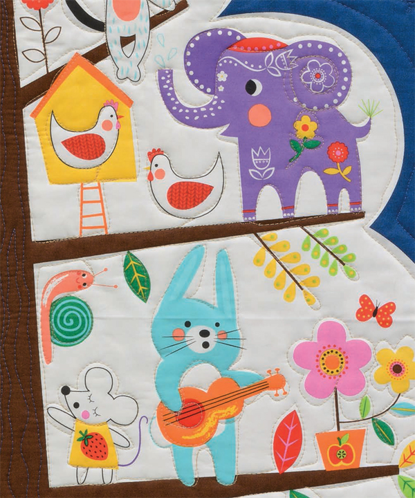 Quilted-fabric-panel