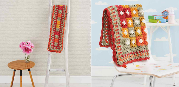 Scarf-and-granny-square-blanket