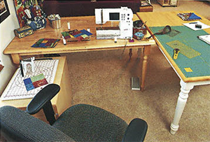 Repurpose furniture for your quilting space