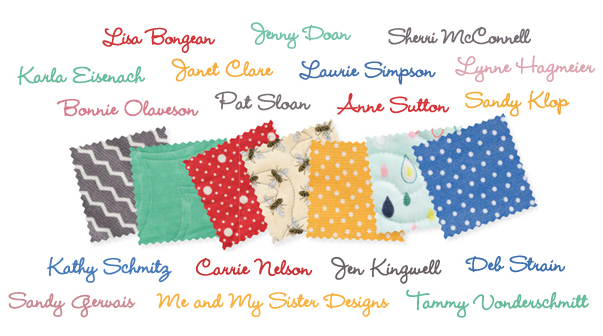 Designer lineup for Lucky Charm Quilts