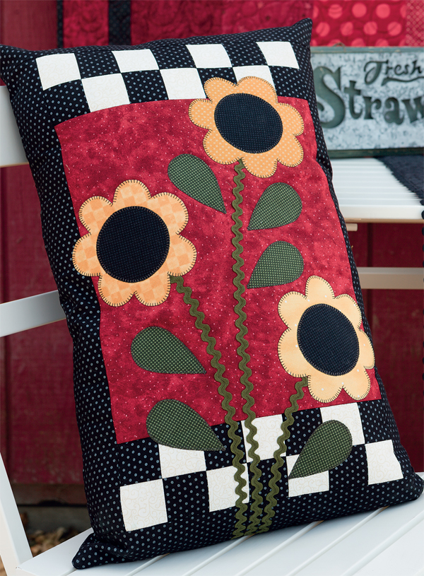 Opening Day flower pillow