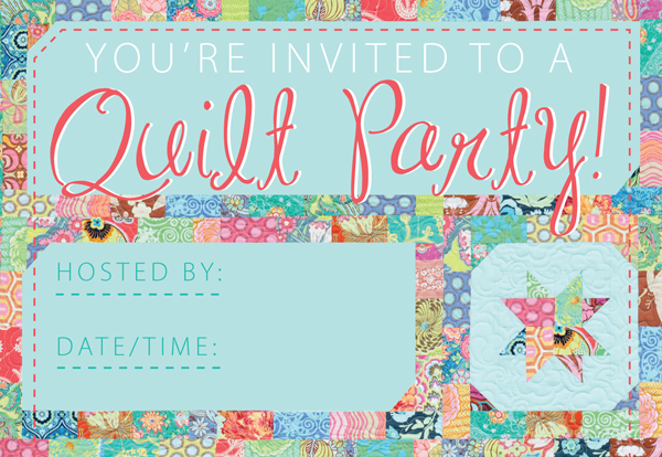 Quilt party invitations free printable