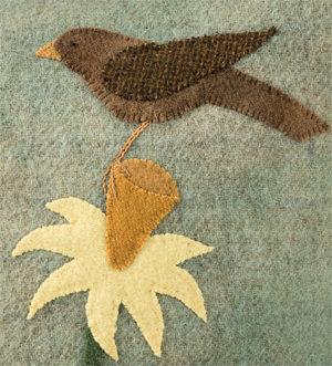 Bird applique from A Change of Seasons