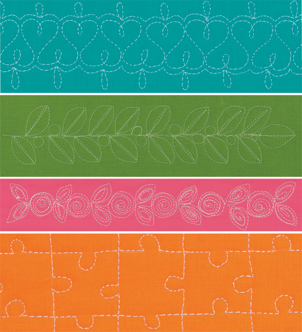 Motifs from Free-Motion Machine Quilting 1-2-3