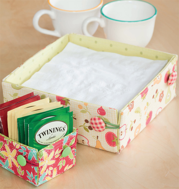 Buttoned Napkin and Tea Bag Holder