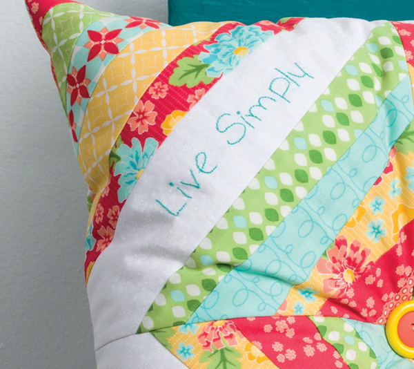 Live Simply Pillow detail
