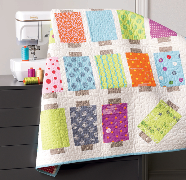 Modern Spools quilt