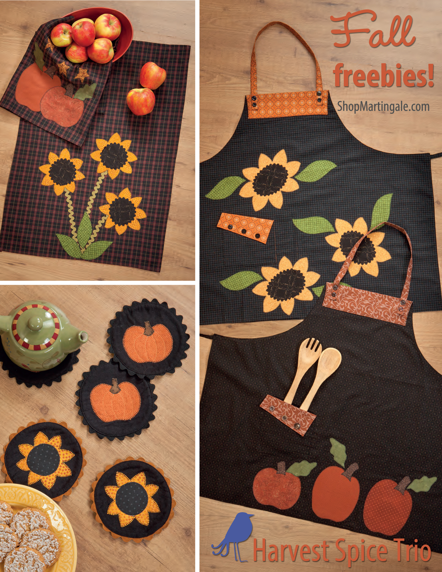 Free patterns for fall: autumn inspired kitchen set