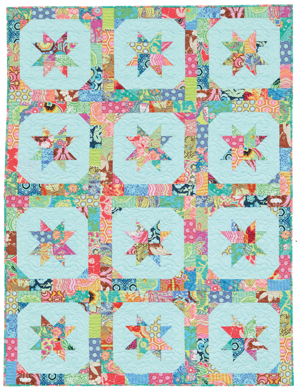 Star Blossoms Jelly Roll quilt