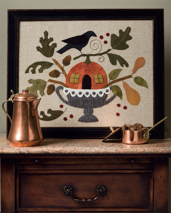 Harvest Home framed applique