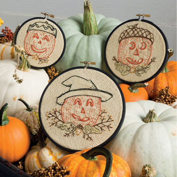 Three Jacks embroidery for Halloween