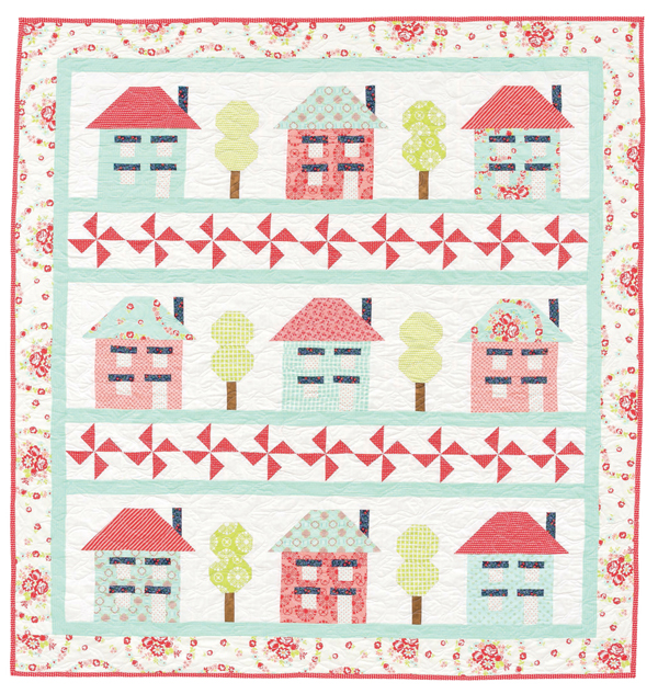 Block Party house quilt