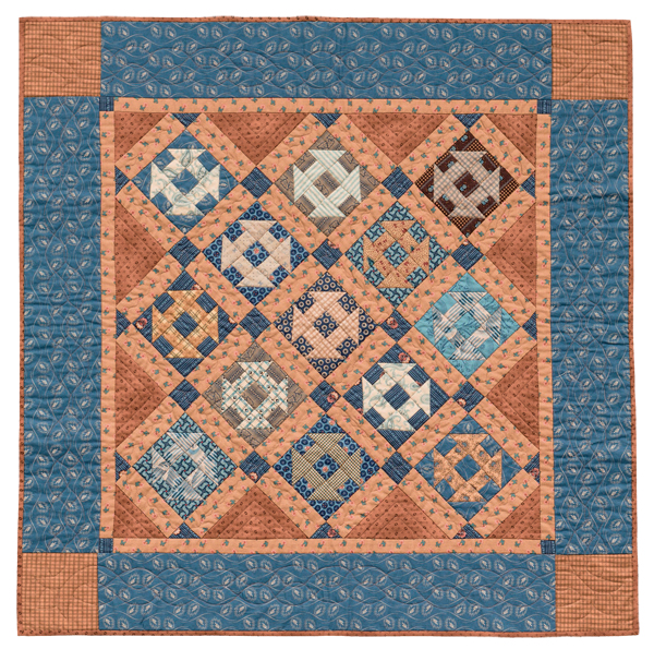 Butterscotch and Blue quilt