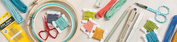 Basic embroidery supplies