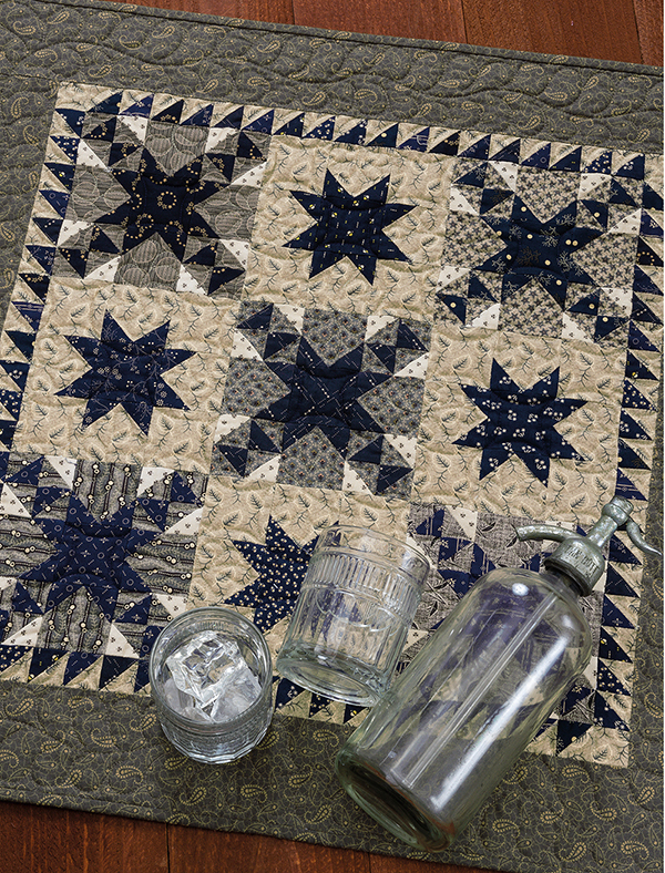 Blue and Gray Trail quilt