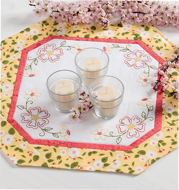 Daisy Delight Candle Mat