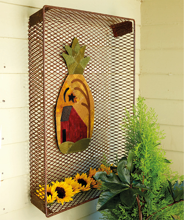 Crazy-Stitched Pineapple Mat