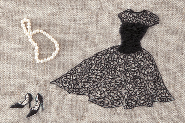 Little Black Dress embroidery