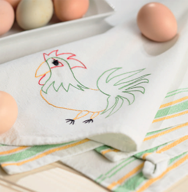 Happy Mornings Embroidered Towels
