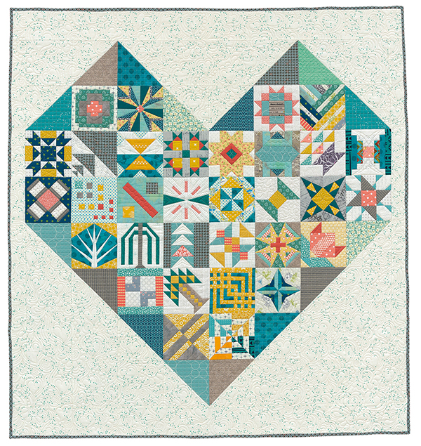 Heart and Hands Sampler quilt