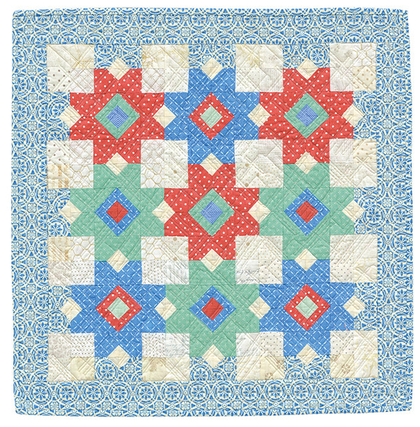Nine Patch Dance quilt