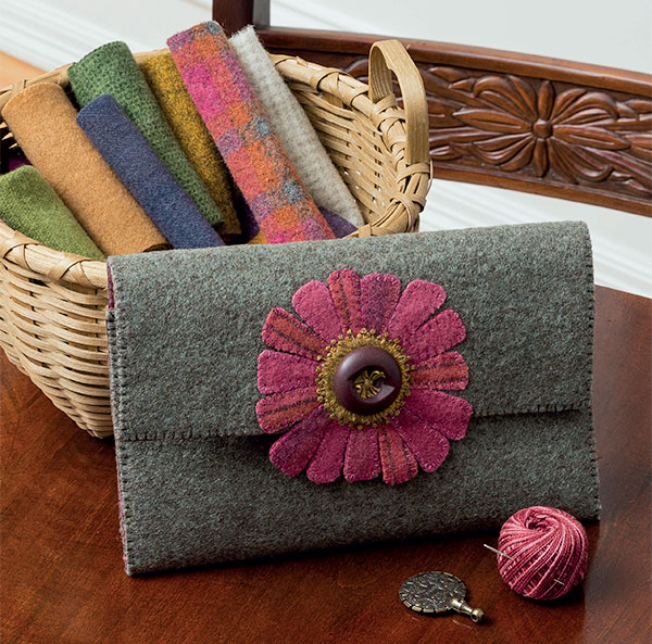 Pressed Flowers Sewing Clutch