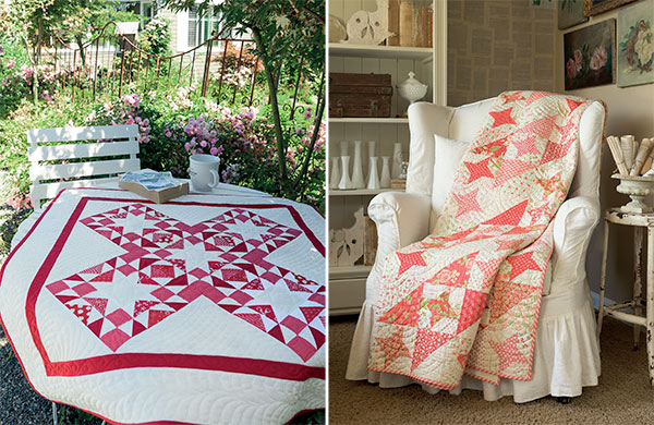 Red-and-white quilts