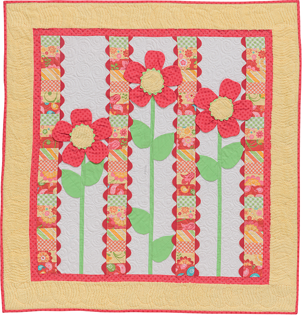 He Loves Me, He Loves Me Not free baby-quilt pattern