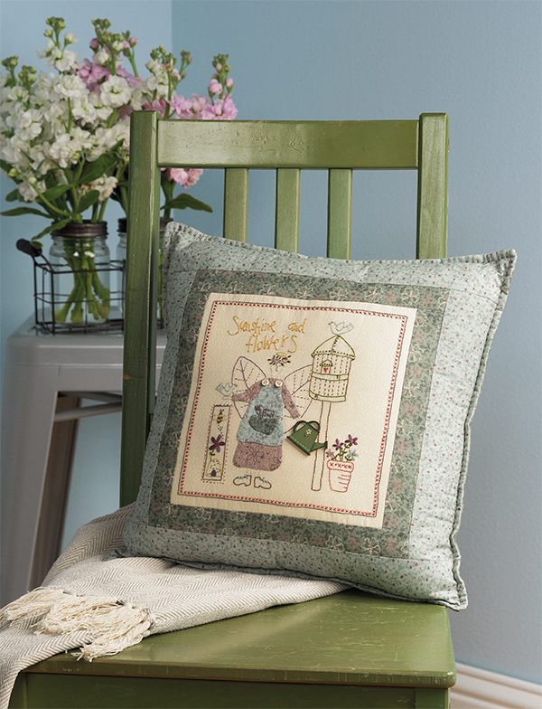 Sunshine and Flowers Pillow